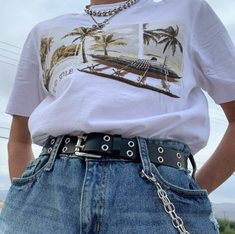 Punk Streetwear Leather Belt