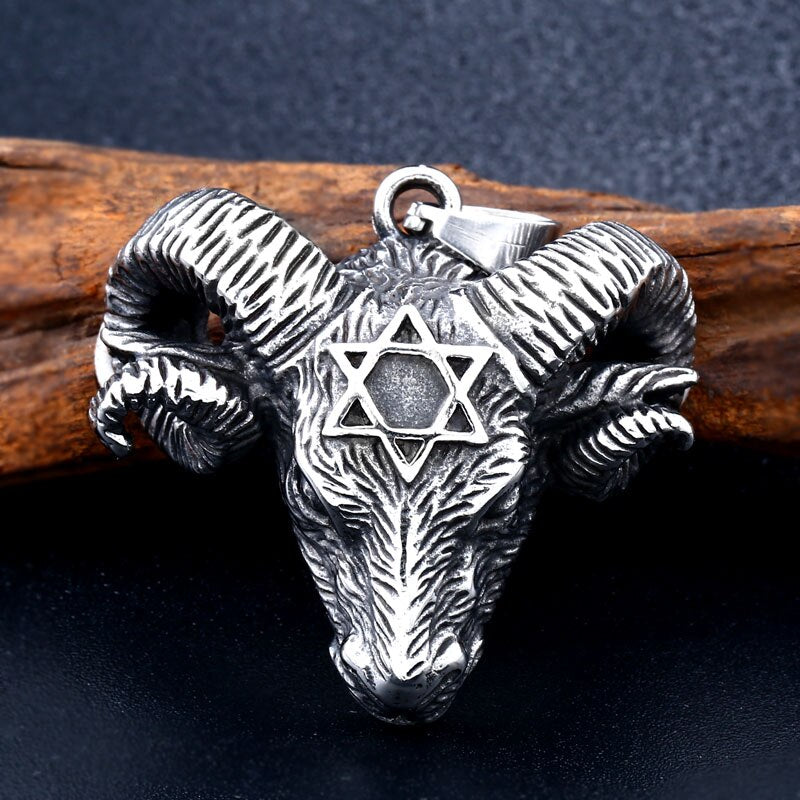 Vikings Sheep head pendant necklace jewelry
