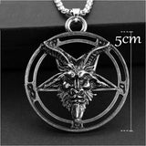 Satanism Occult Metal Pendant Necklace