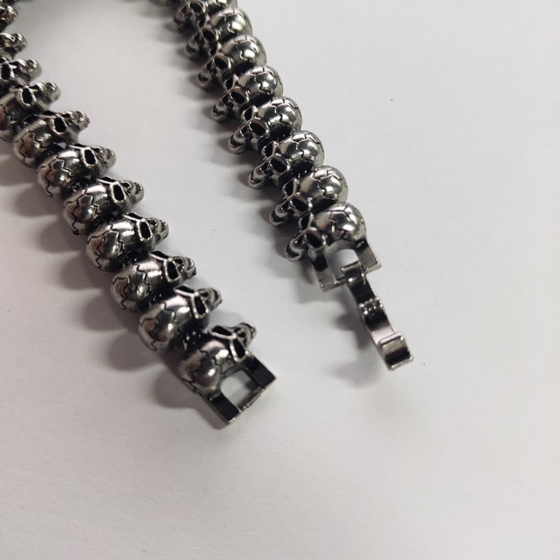 Stainless Steel Shiny Skull Charm Link Chain