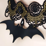 Handmade Bat Lace Choker Necklace