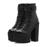 Metal Buckle High Heels Shoes