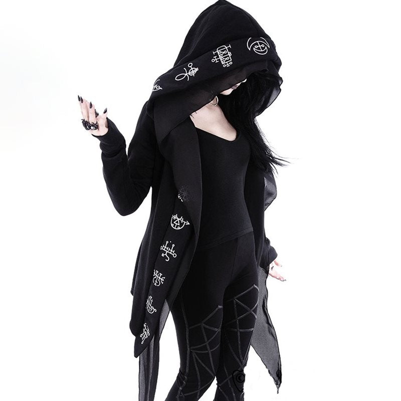 Gothic Long Cardigan Coat Women