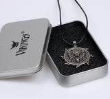 Wolf Pendant Necklace Viking Jewelry