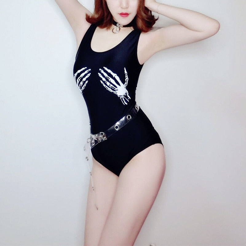 Sexy Punk Triangle Jumpsuit
