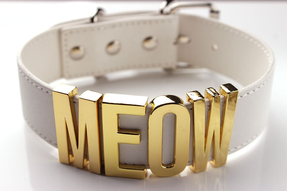 Meow Costume Black Choker Necklace