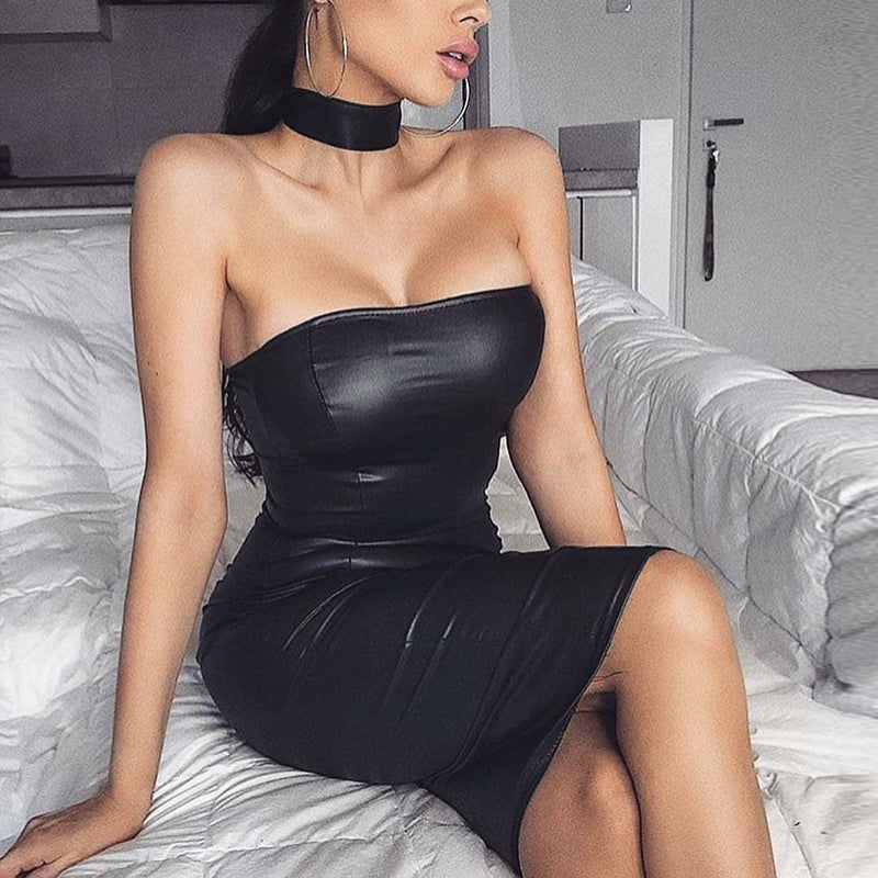 Sexy Leather Dresses