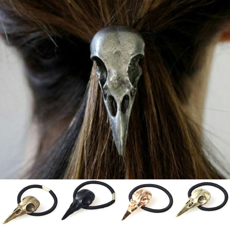 Silver Birds Head Elastic Hair Bands