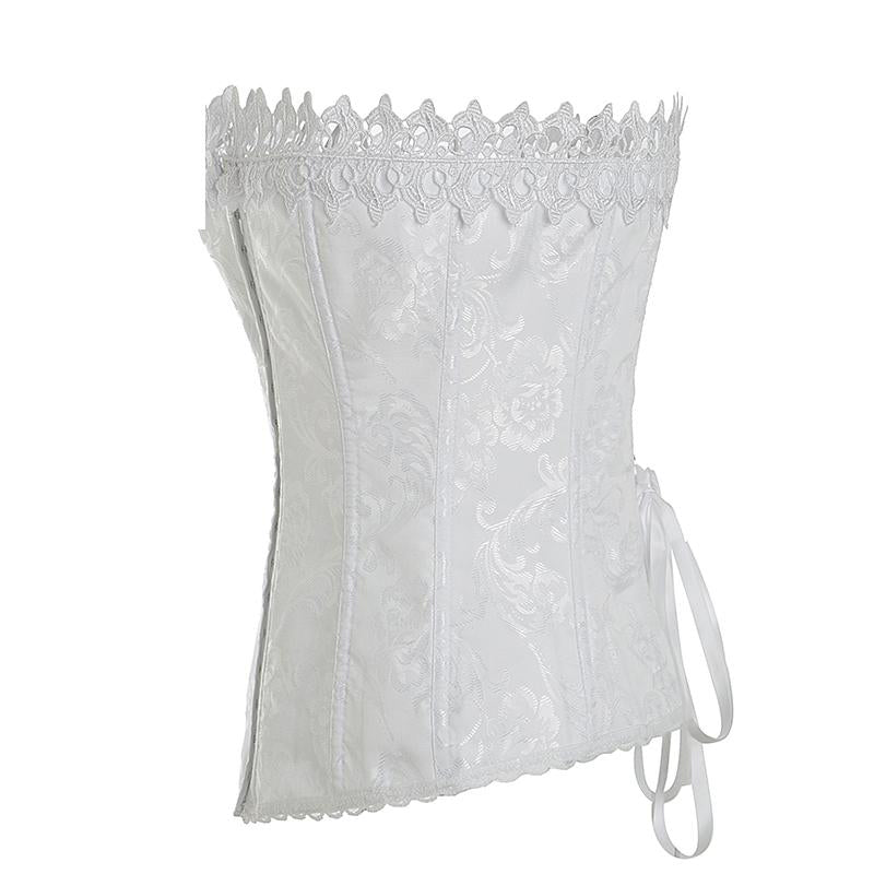 Jacquard Overbust Corselet Hollow Out