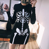 Printing Long Sleeve Dress