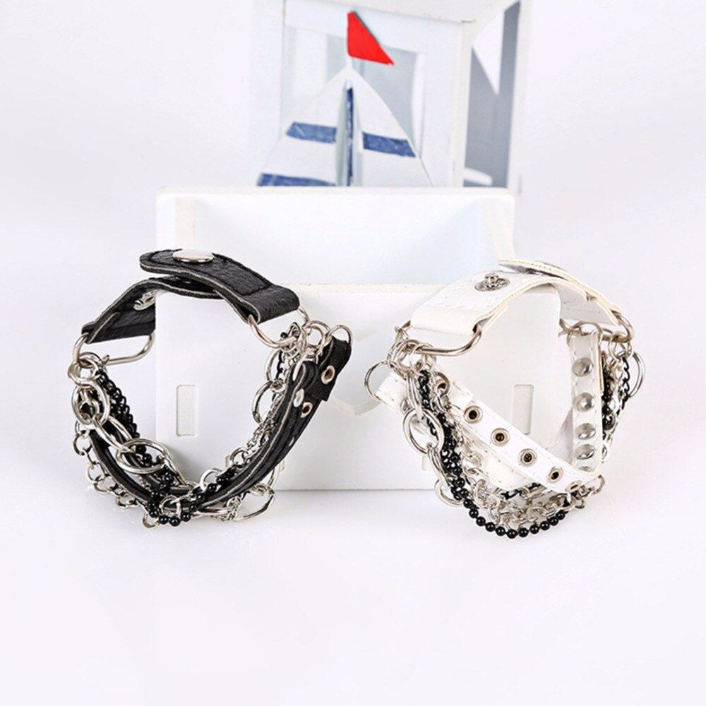 Leather Bracelets Multilayer Cool Rock