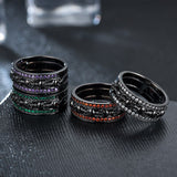 Punk Charm Round Skeleton Ring Jewelry