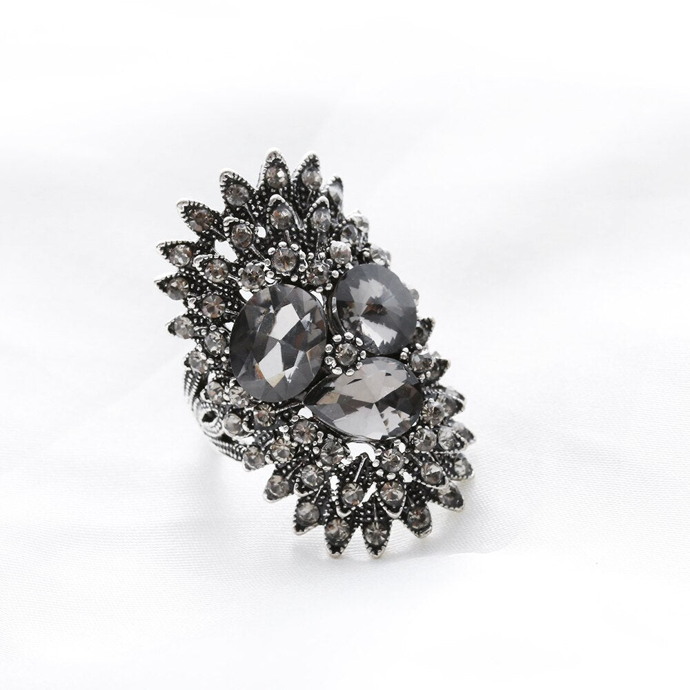 Gray Glass Rings For Women