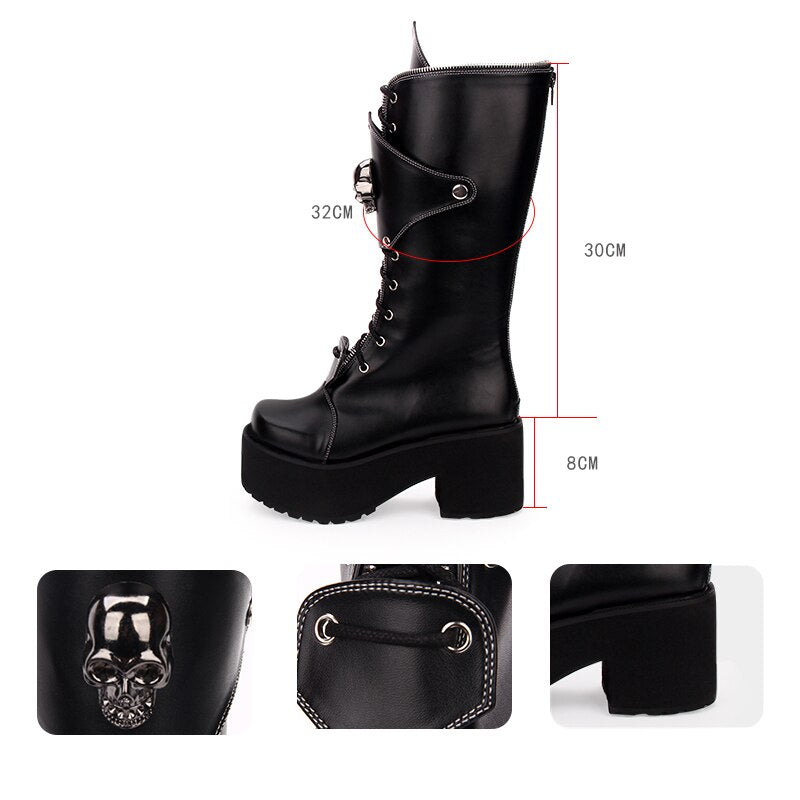Gothic Punk High Boots