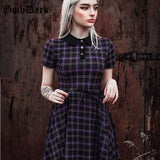 Gothic Bow Drawstring Buttton Dresses