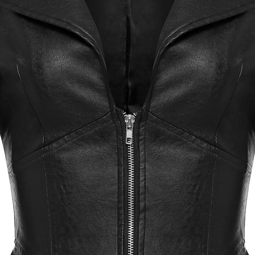 Jacket Black Faux Leather