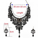 Handmade Exaggerated Black Lace Necklace