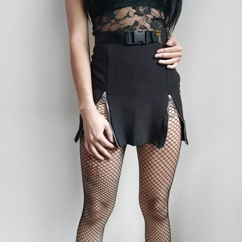 Mini Skirt Sexy Crop Top Two Pieces Sets