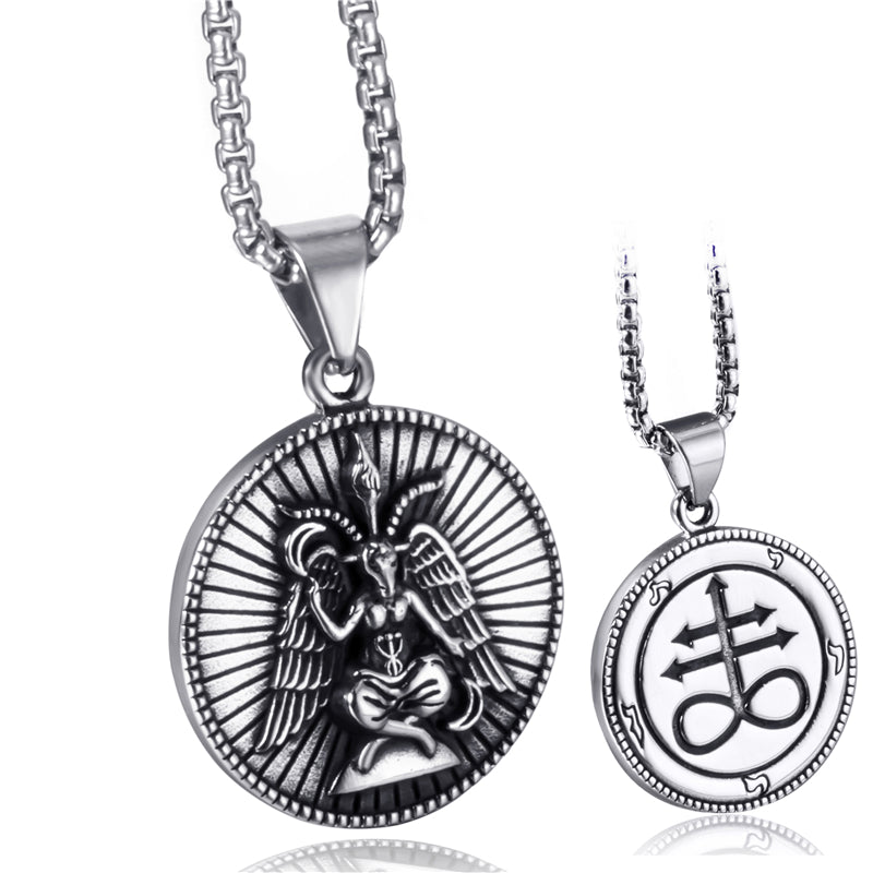 Stainless Steel Pendant Necklace Baphomet