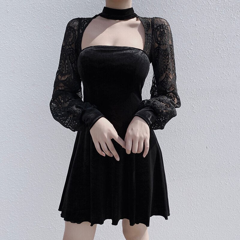 Sexy Long Sleeve Vintage Dress