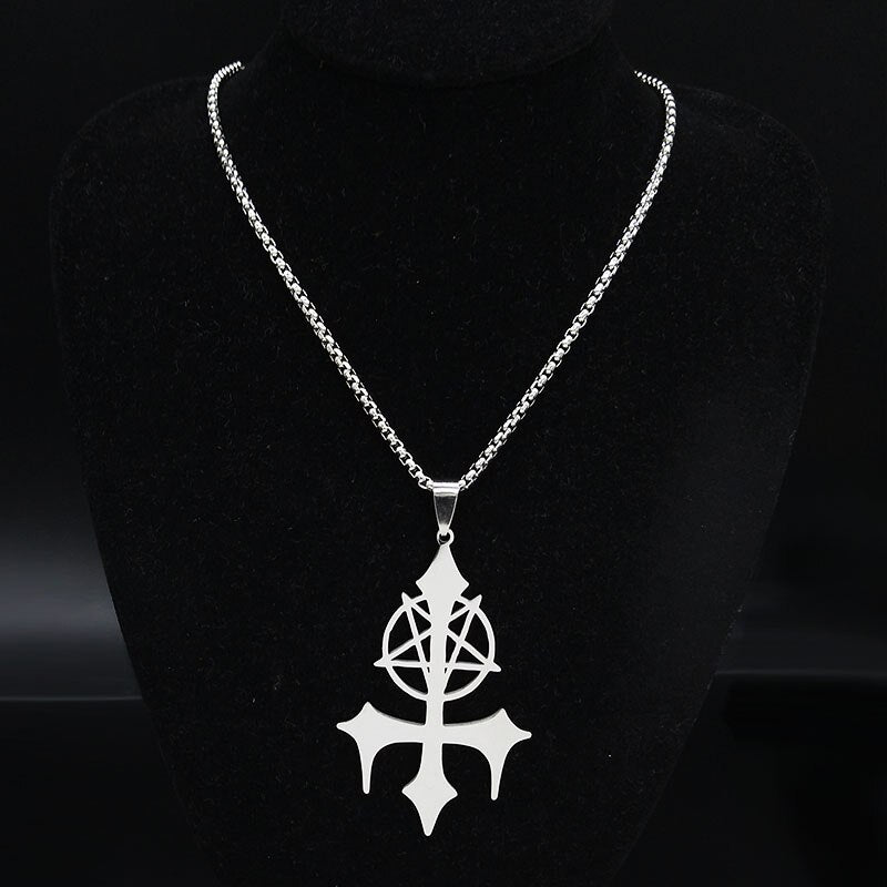 Satan Fork Stainless Steel Chain Necklace