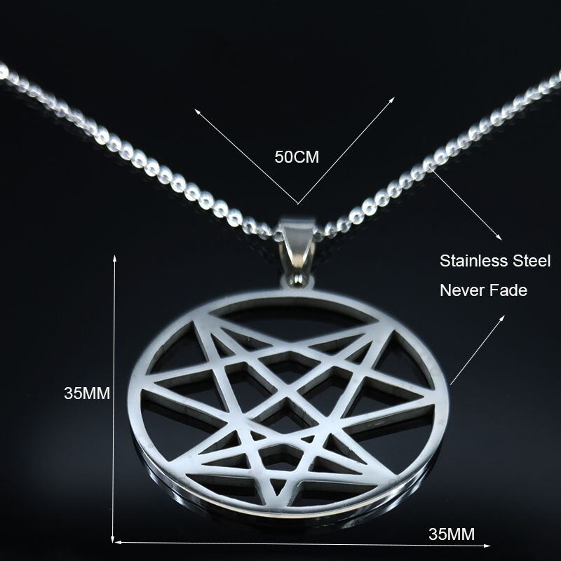 Satan Cross Stainless Steel Necklaces