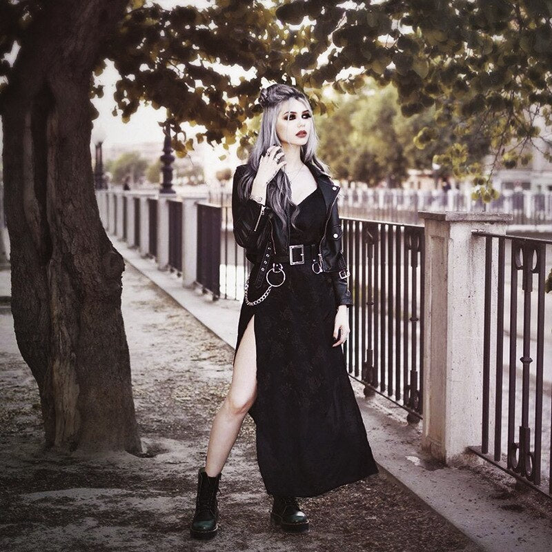 Gothic Black Long Dress