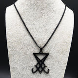 Church of Satan Stainless Steel Statement Necklace