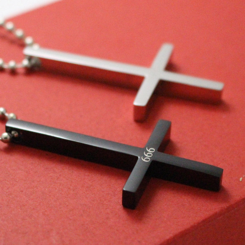 Inverted Cross Pendant Necklace