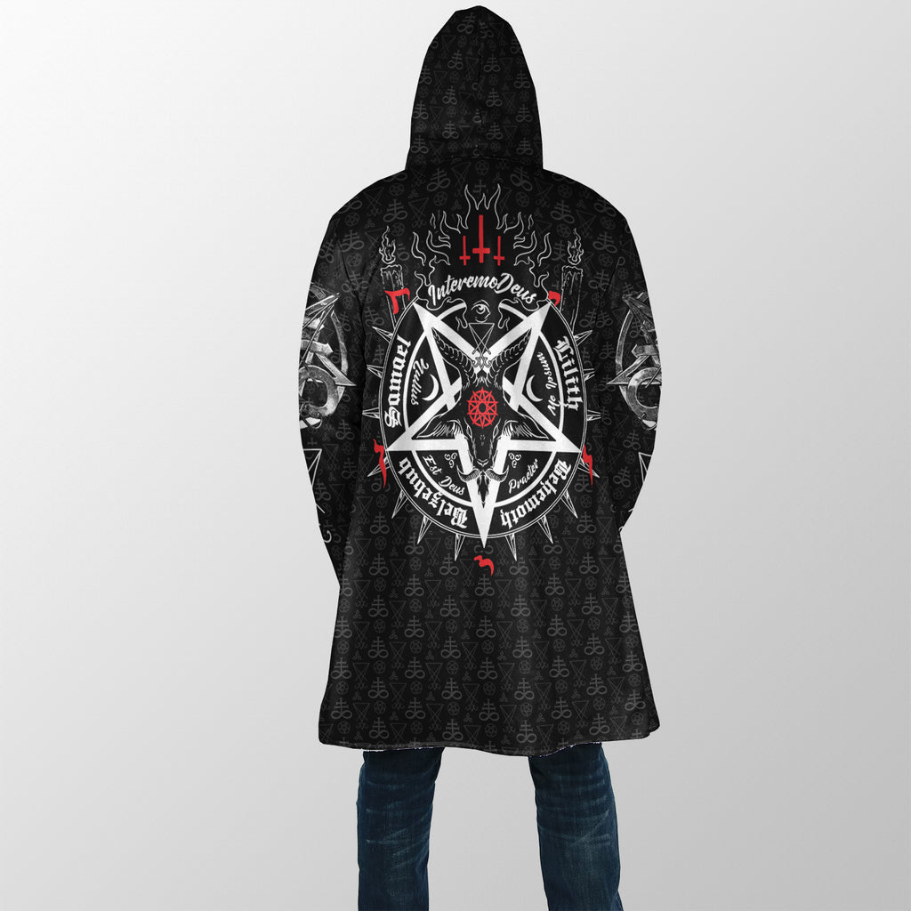Satanic 5 Letters Dream Coat - Plus Size Cloak (No Bag)