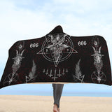 Satanic Hooded Blanket