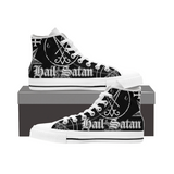 Unisex High Top Canvas Shoes - Hail Satan