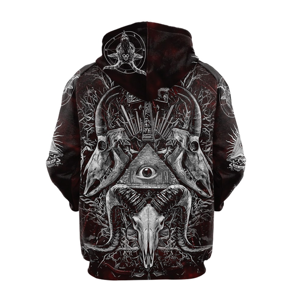 All Seeing Eye Hoodie Raglan Sleeve