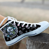 Skull Devil High Top Canvas Shoes