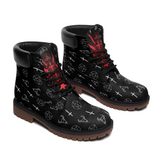 Satanic Occult Symbols All Season Boots (MEN)
