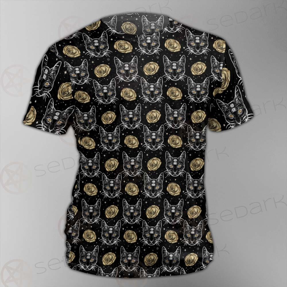 Four Eyed Cat Roses SDN-1011 Unisex T-shirt