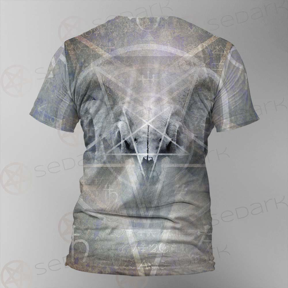 Black Mass Montage Occult Goat Skull SDN-1012 Unisex T-shirt