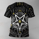Pentagram Baphomet Occult Illustration SDN-1027 Unisex T-shirt
