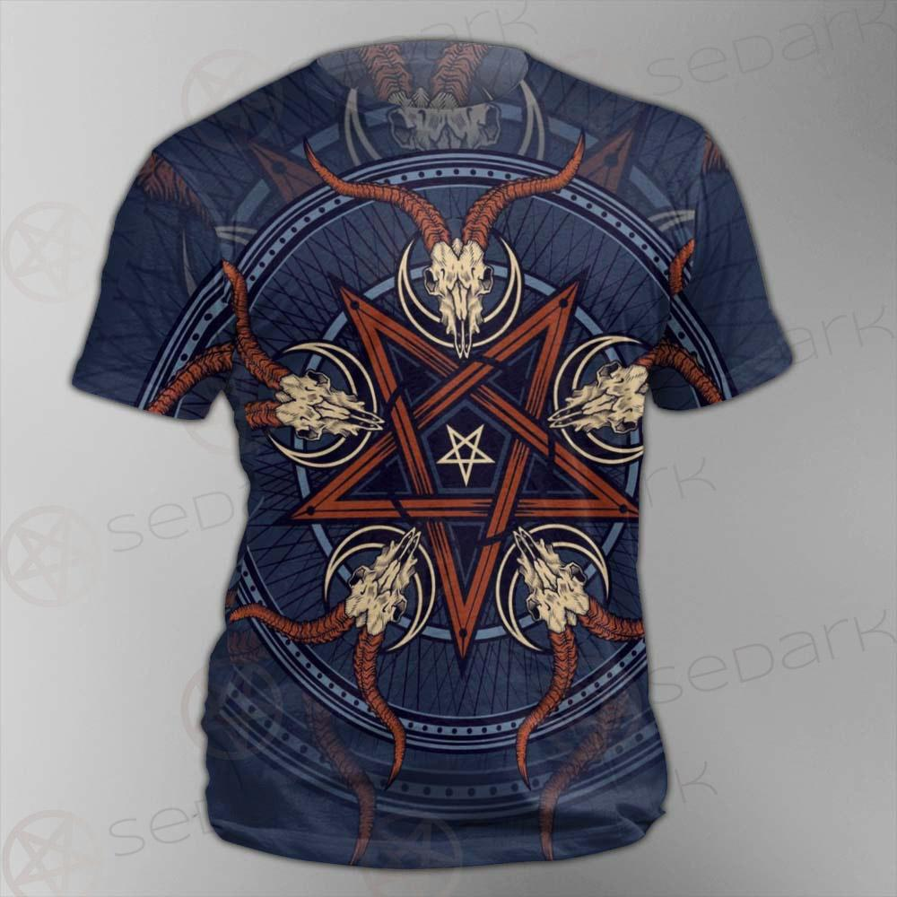 Stylish Pentagram With Goat Skulls SDN-1028 Unisex T-shirt