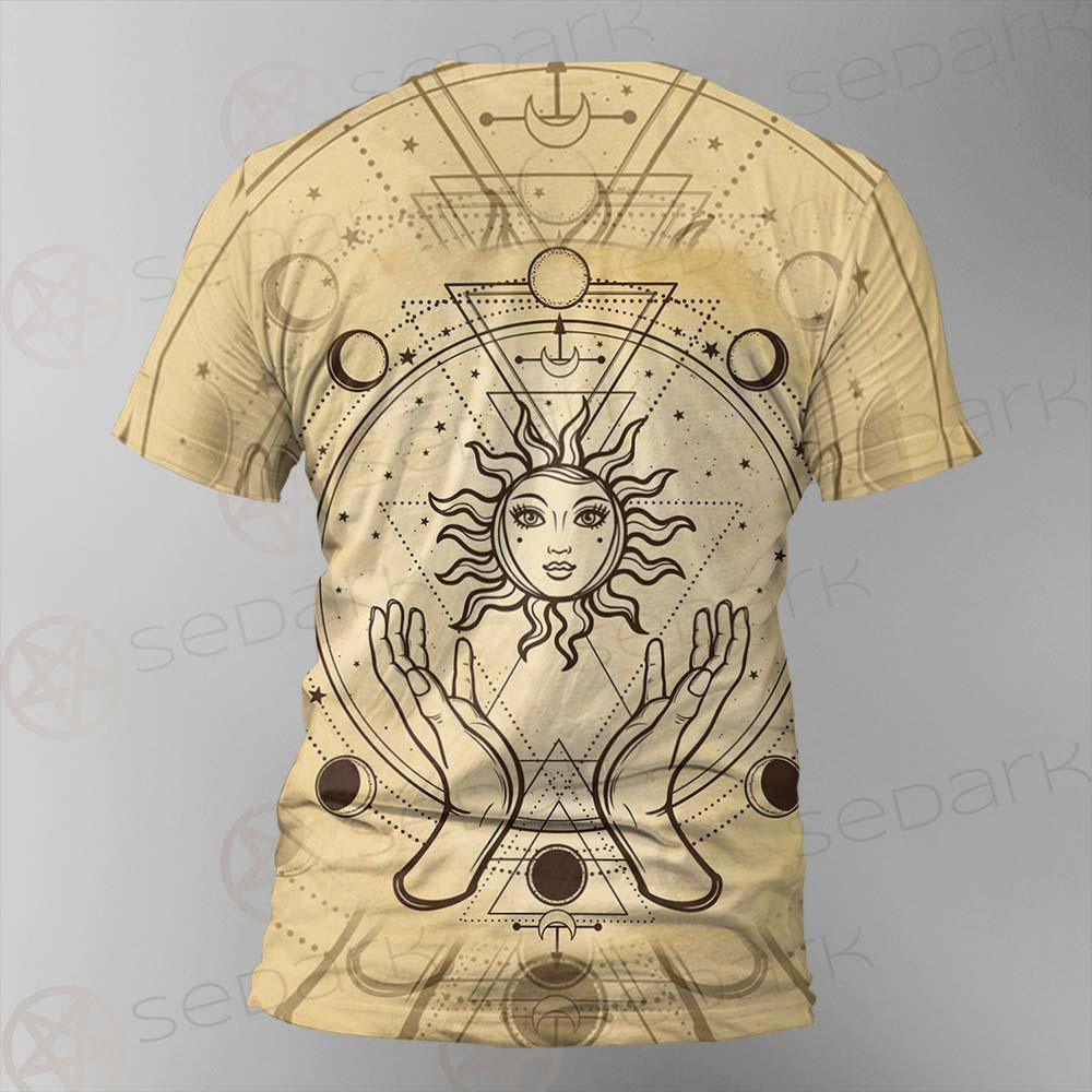 Human Hands Hold The Sun SDN-1030 Unisex T-shirt