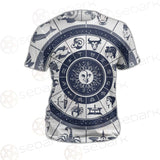 Zodiac Astrology Circle SDN-1035 Unisex T-shirt