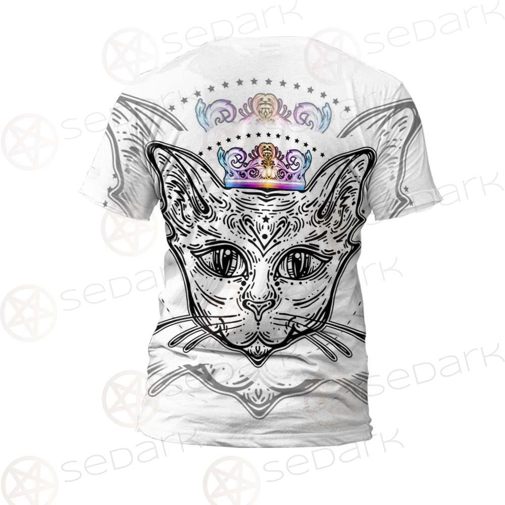 Cat Head Portrait With A Crown SDN-1053 Unisex T-shirt