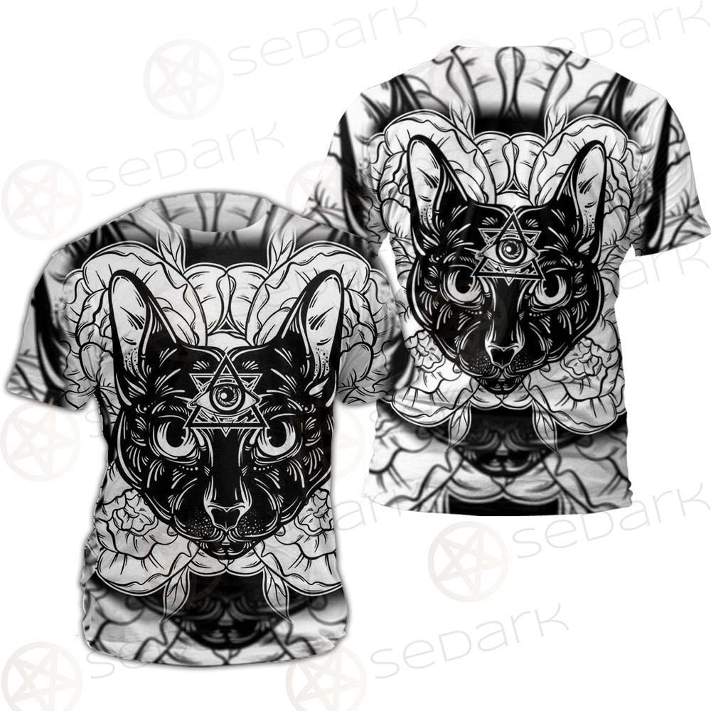 Ustration Of Cat With Flowers SDN-1057 Unisex T-shirt