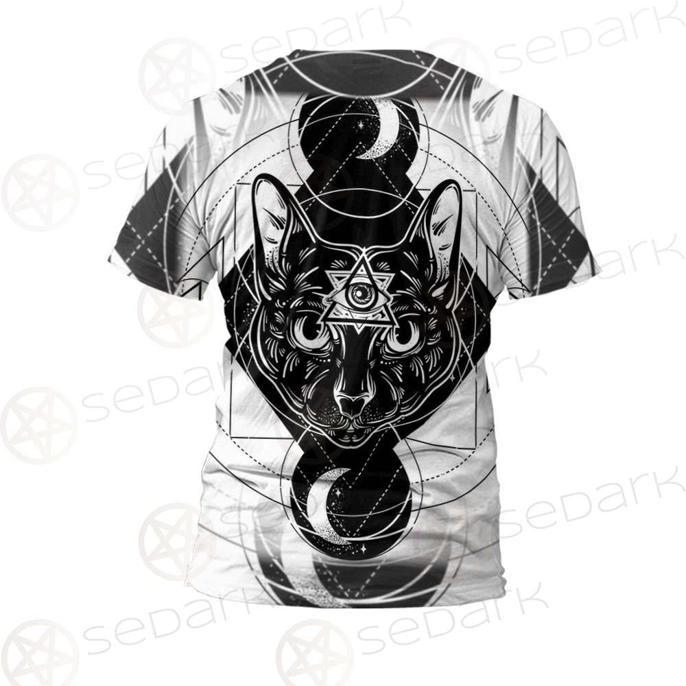 Hand Drawn Illustration Of Cat SDN-1064 Unisex T-shirt