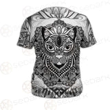 Cat Mystic And Mandala Tattoo SDN-1065 Unisex T-shirt