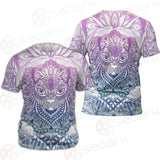 Cat Mystic And Mandala Tattoo SDN-1067 Unisex T-shirt
