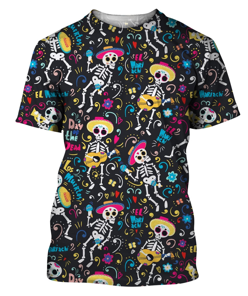 Band Of Mariachi Skeletons T-Shirt
