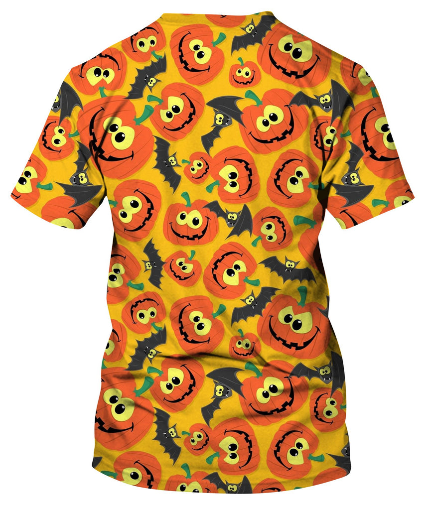 Halloween Themes With Bats And Pumpkins T-Shirt