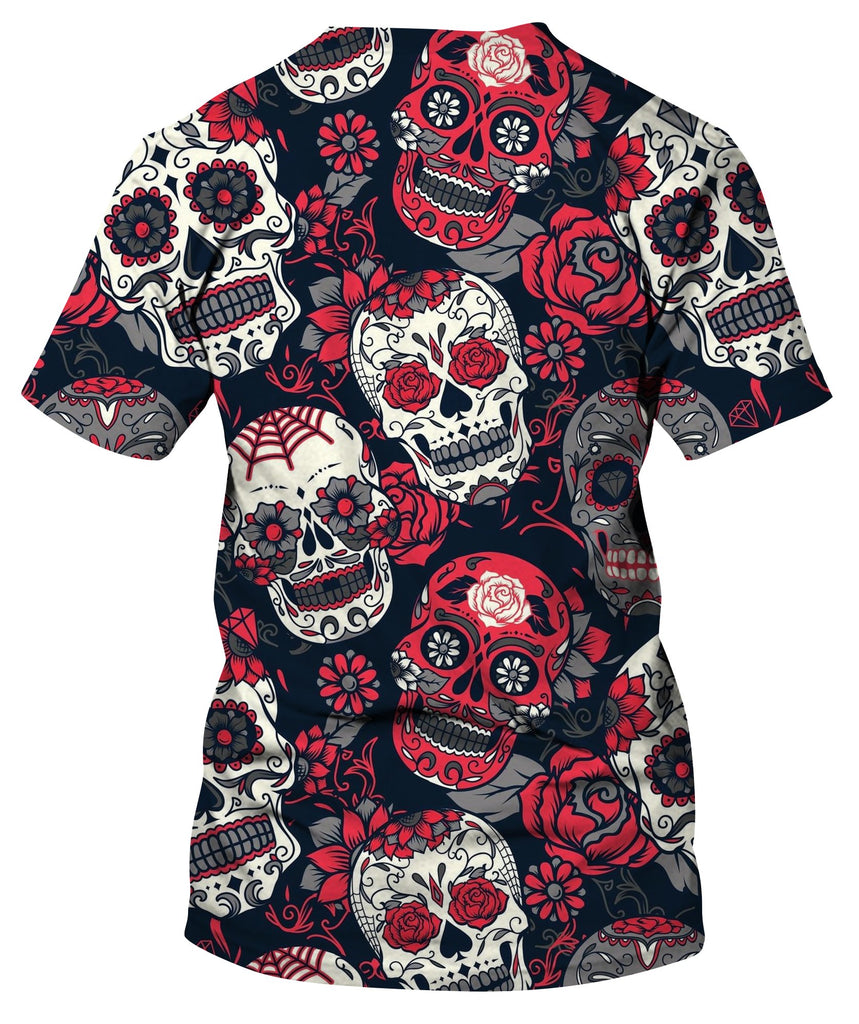 Sugar Skull With Floral Ornament T-Shirt