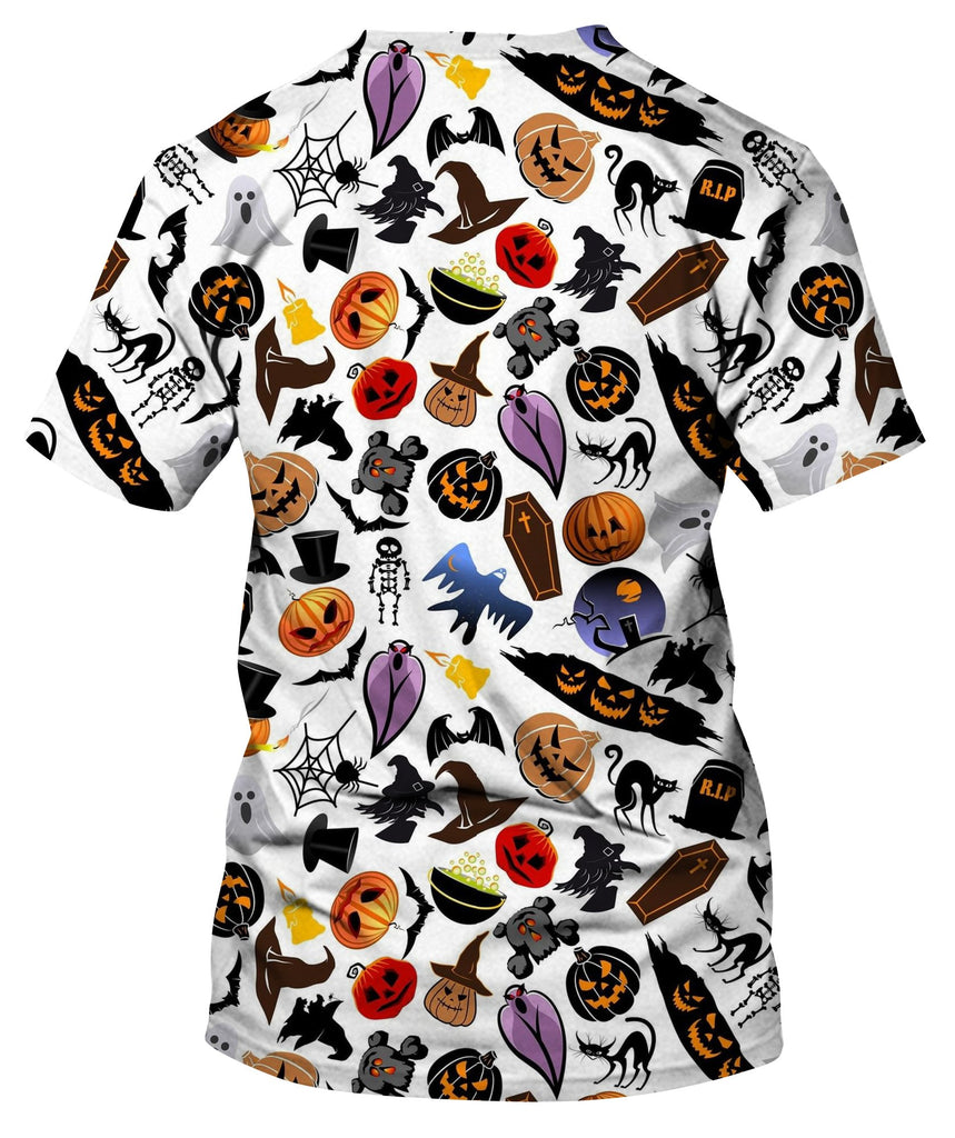 Cartoon Scary Characters And Elements T-Shirt